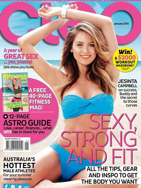 Jacinta Campbell's first Cleo cover in January 2015.