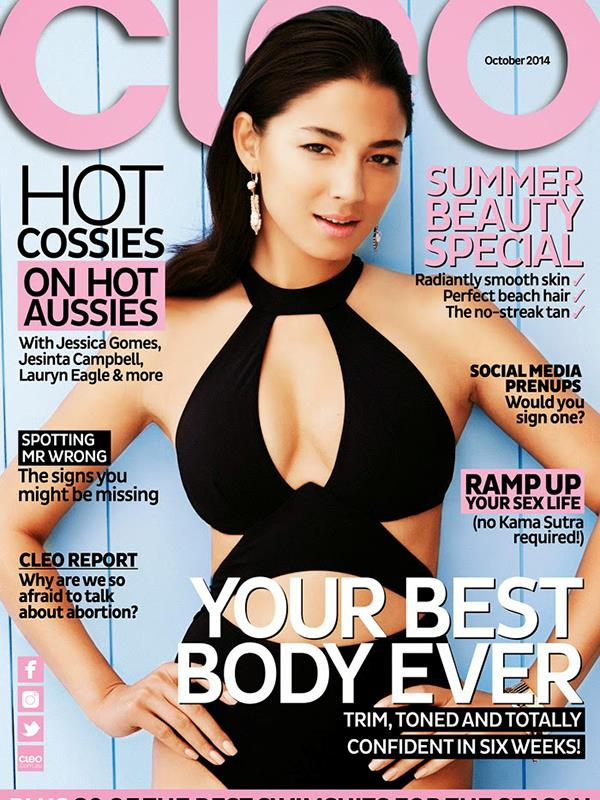 Jessica Gomes October 2014 issue.
