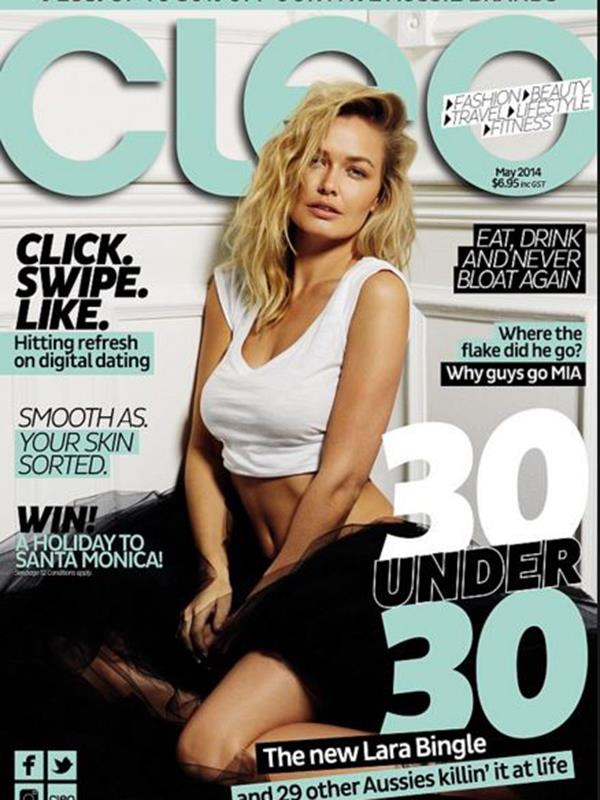 Before she was Lara Worthington model Lara Bingle was on the cover in May 2014.