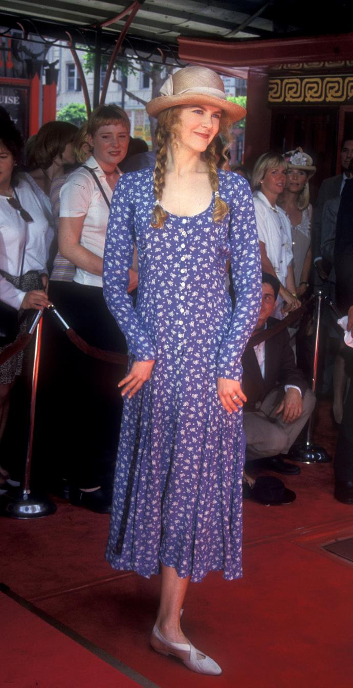 At Mann's Chinese Theater in 1993.