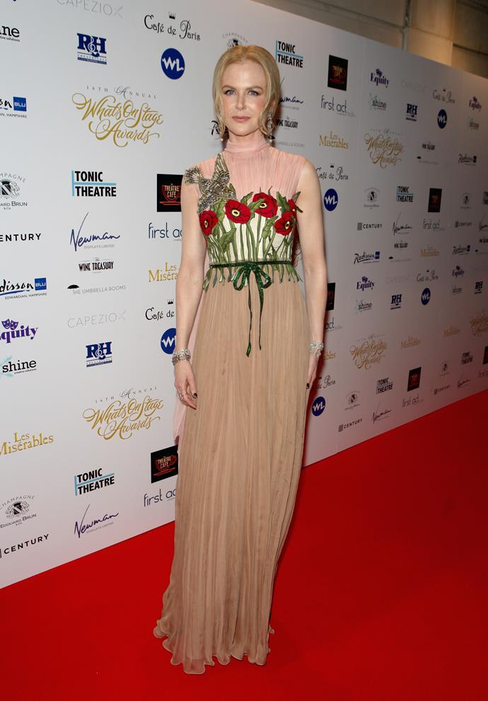 Nicole at the WhatsOnStage awards.