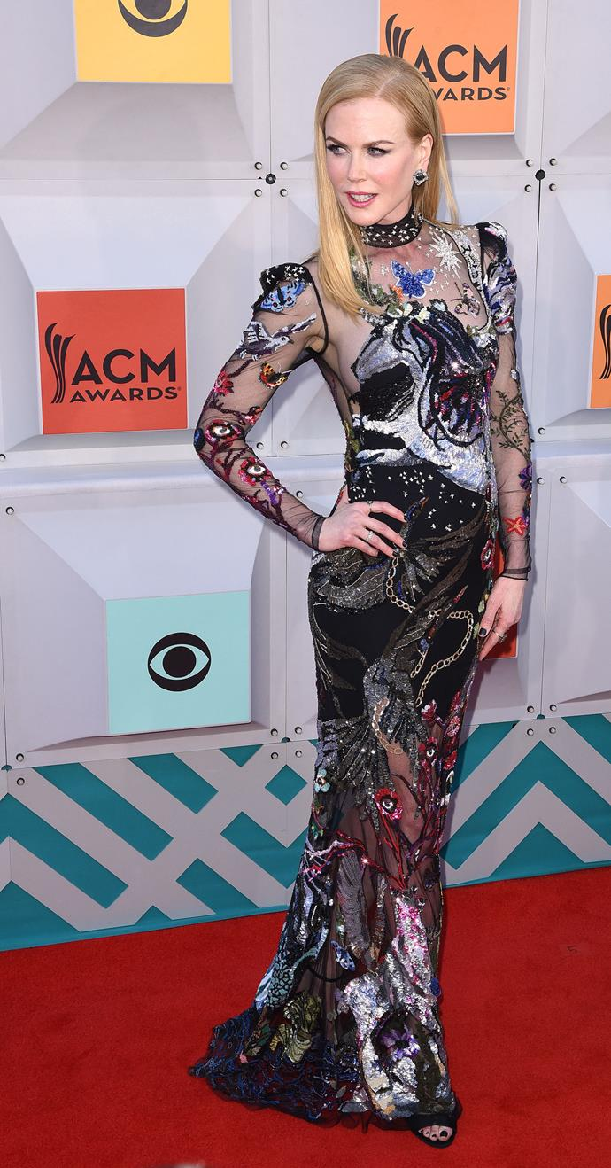 Nicole Kidman at the Academy of Country Music Awards last night.