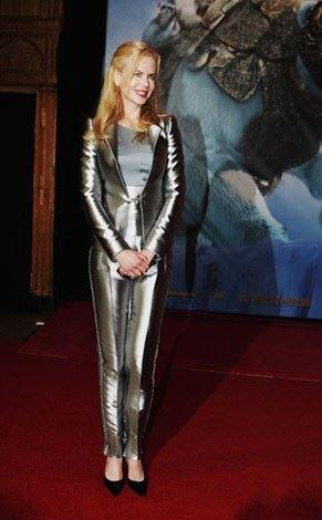 Her infamous silver suit in Sydney in 2007.