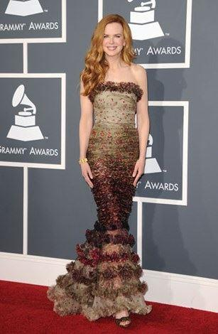 Ombre ruffles at the Grammys in 2011.