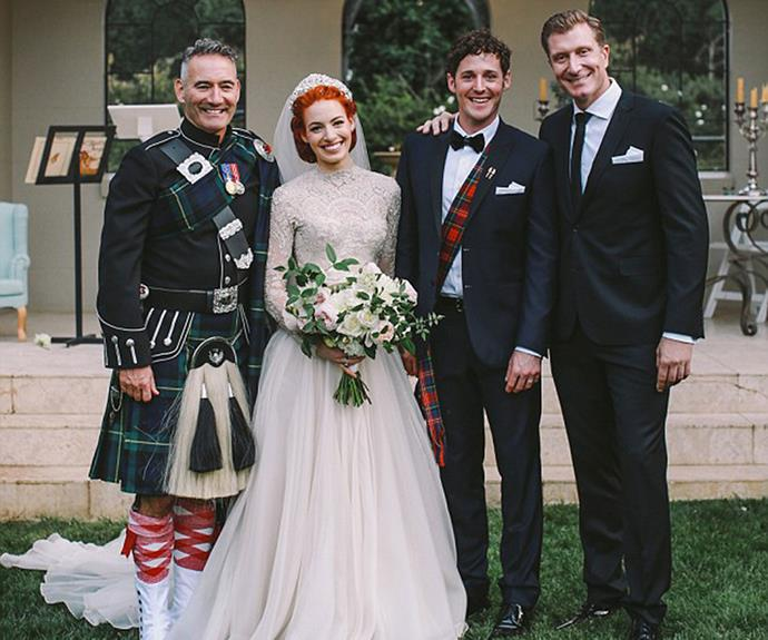 The current Wiggles line-up at the wedding.
