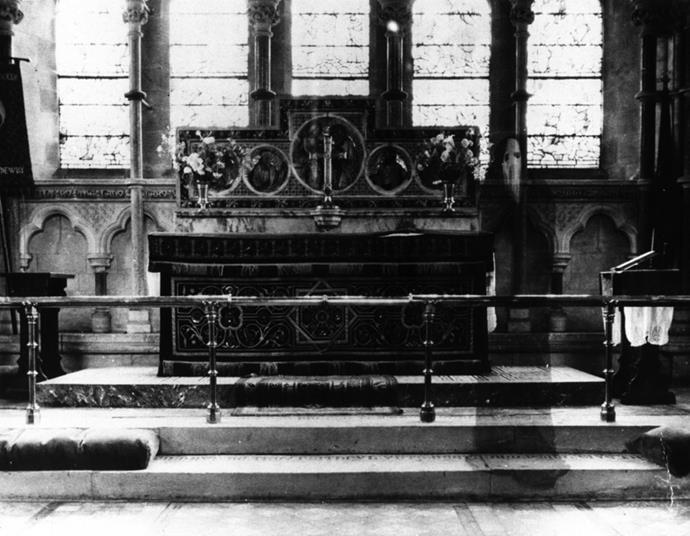 The Newby Church of Yorkshire is said to be haunted by the spirit of a 16th century monk, who is believed to have been captured in this photo taken by a reverend in 1963.