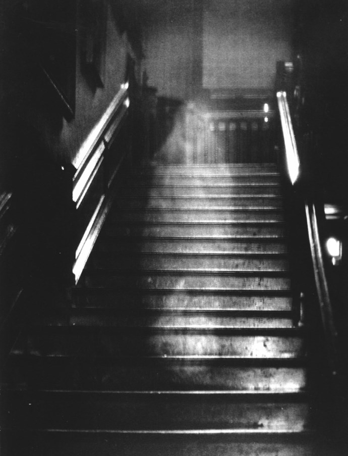 This spooky figure was also spotted in Norfolk. The eerie image was taken in Raynham Hall, a country house in 1936.