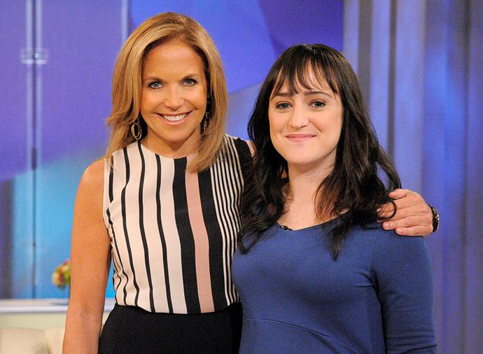 Mara (on the right) with journalist Katie Couric