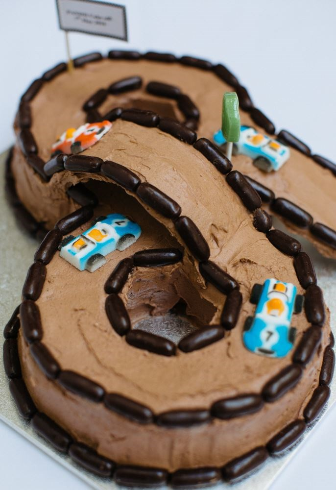 This cool 'n' well-crafted racing track cake, baked to perfection by Jen McCormack, is the wheel chocolate deal.