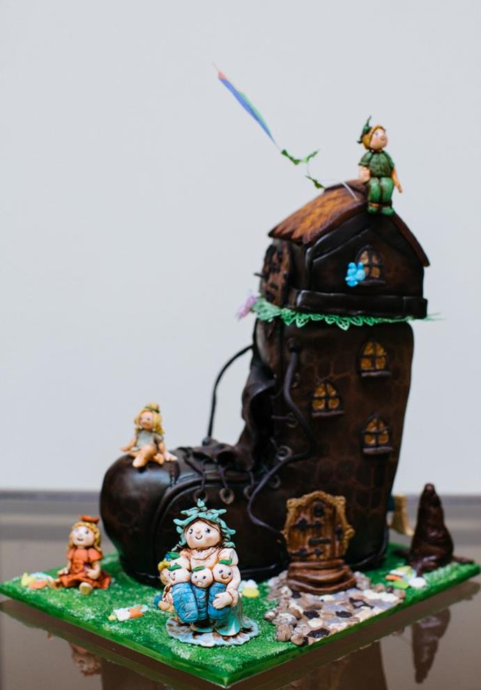 Being sold at the PANDSI live auction for $650 - the cake to raise the most money for PANDSI on the day - is a beautifully detailed recreation of the Old Woman Who Lived In A Shoe cake.