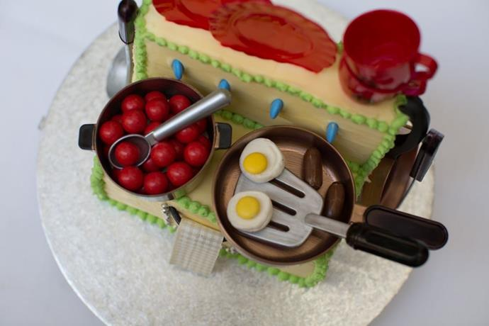 Jacinta Ford's sweet stove cake looks as masterfully detailed as it does delicious.