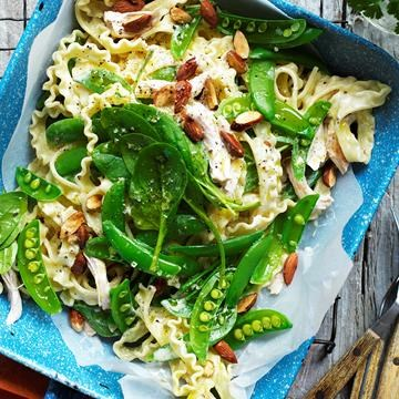 """[Chicken and sugar snap pea pasta](http://www.foodtolove.com.au/recipes/chicken-and-sugar-snap-pea-pasta-18528