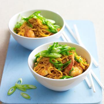"""[Singapore prawns with noodles](http://www.foodtolove.com.au/recipes/singapore-prawns-with-noodles-31089 target=""""_blank"""")"""