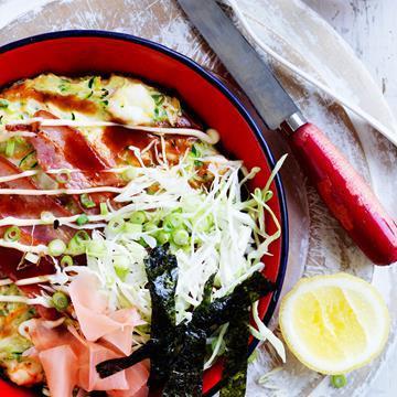 """[Prawn and vegetable Japanese pancake]( http://www.foodtolove.com.au/recipes/prawn-and-vegetable-japanese-pancake-18543 target=""""_blank"""")"""