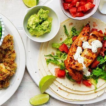 """[Mexican chicken wraps](http://www.foodtolove.com.au/recipes/mexican-chicken-wraps-18389 target=""""_blank"""")"""