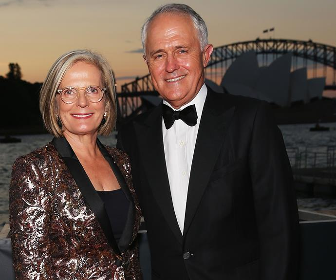 Malcolm Turnbull with his wife Lucy.