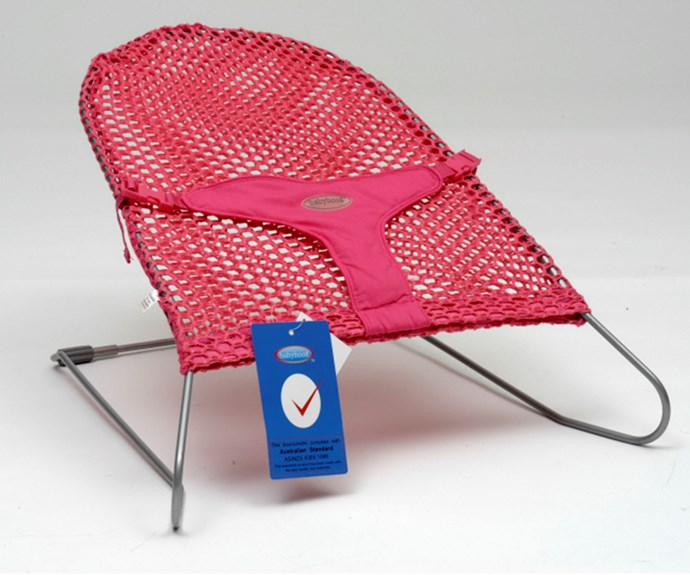 "CATEGORY: MOST POPULAR BABY ROCKER [Babyhood Mesh Bouncer](http://www.babyhood.com.au/|target=""_blank""), RRP $54.95. This olden goldie is made new again. It might look like the great bouncer of the past but it's been revised with all the new technology and features that you expect today. Made with a high quality cotton cover that can be removed to wash and a three-point safety belt. The flat design is great for travelling."