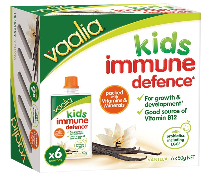 """CATEGORY: MOST POPULAR BABY FOOD. The [Vaalia Kids Immune Defence](http://www.parmalat.com.au/ target=""""_blank"""") pouches RRP $5.89 (for six) are packed with added vitamins and minerals, like vitamin A and vitamin D to support immunity."""