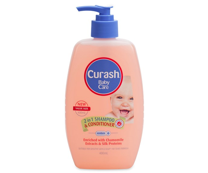 """CATEGORY: MOST POPULAR BABY HAIRCARE PRODUCT. [Curash 2 in 1 Shampoo & Conditioner](http://www.curash.com.au/
