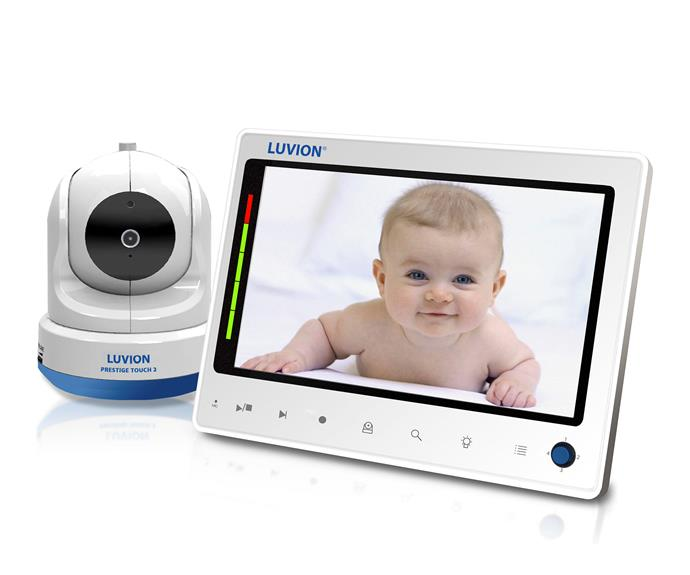 "CATEGORY: MOST POPULAR BABY MONITOR. The [Luvion Prestige Touch 2](http://www.networksales.com.au/|target=""_blank"") RRP $349 has a large seven inch screen, remote-controlled cameras and you can record footage onto an SD card."