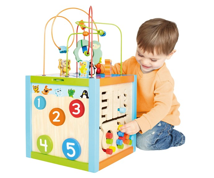 "CATEGORY: MOST POPULAR DEVELOPMENTAL TOY (12+ MONTHS). The [Imaginarium 5 Way Giant Bead Maze Giant Cube](https://www.babiesrus.com.au/|target=""_blank"") RRP $89.95 features five different sides of play including spinning gears, tracking maze and peek-a-boo counting circles."