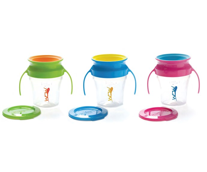 """CATEGORY: MOST POPULAR SIPPY CUP. The [WOW Cup for Baby](http://www.nicepak.com.au/ target=""""_blank"""") RRP $13.49 features a unique, lip-activated drinking edge that seals itself until your baby takes another drink."""