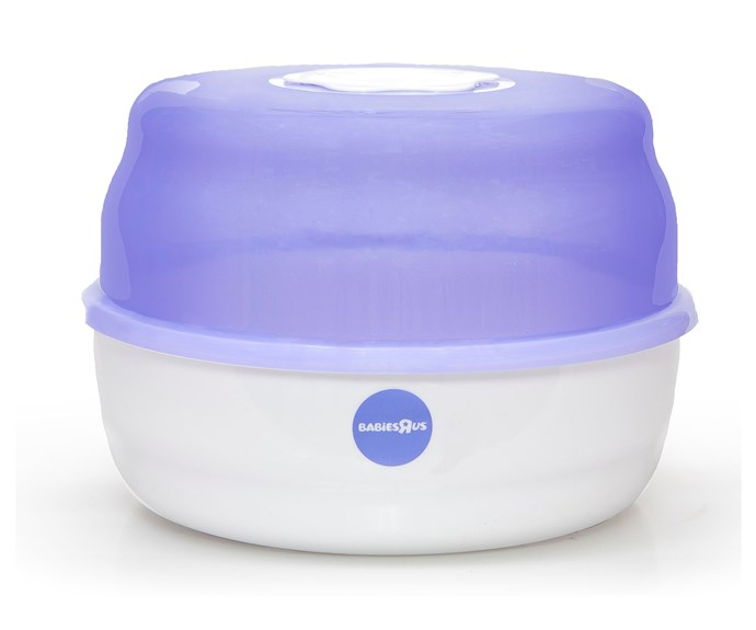 "CATEGORY: MOST POPULAR STERILISER. The [Babies ""R"" Us Microwave Steam Steriliser](http://www.babiesrus.com.au/