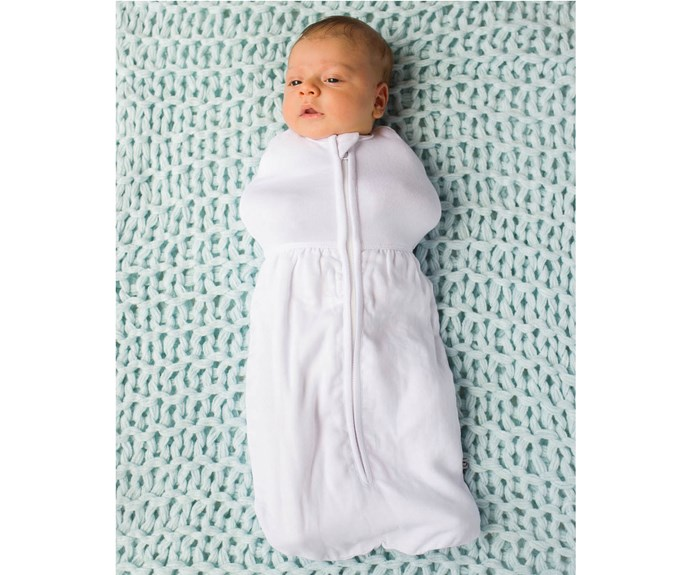 "CATEGORY: MOST POPULAR SWADDLE. The [Plum Bamboo Pod](https://www.plumcollections.com.au/|target=""_blank"") RRP $44.95 combines the stretch cotton and muslin to provide baby with a snug fit over the arms and generous space for the legs and hips."