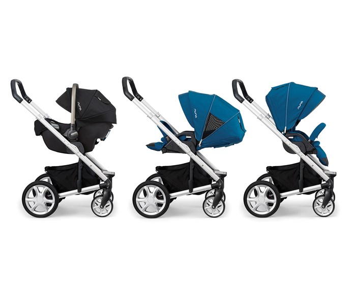 CATEGORY: CAR SEAT TRAVEL SYSTEM  The Nuna Pipa Capsule & Mixx Pushchair, RRP $1598, is designed not only to have your tiny rider facing you or out, but to fold looking whichever way as well.