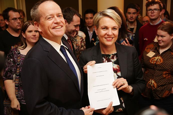 Shorten introducing the same-sex marriage bill to federal parliament.