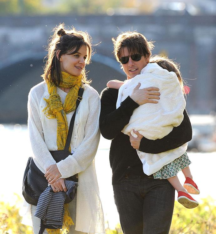 Katie, Tom and Suri pictured in 2009
