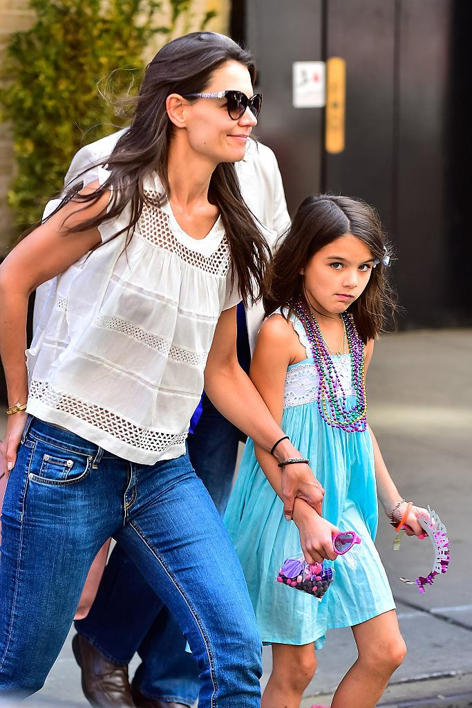 Katie and Suri pictured last year