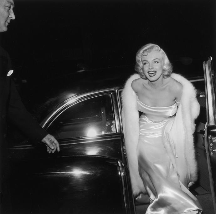 1954: arriving to the premiere of *There's No Business Like Show Business*