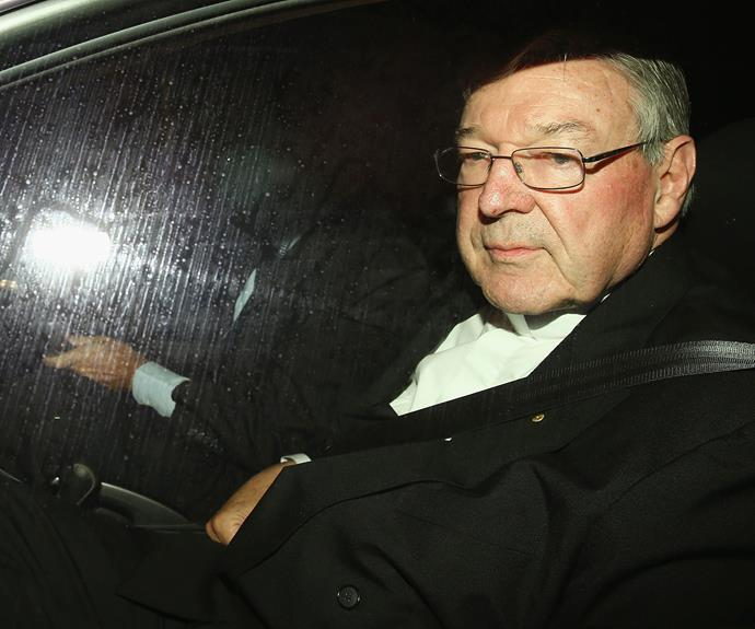 Pell on his way to give evidence at the Royal Commission.