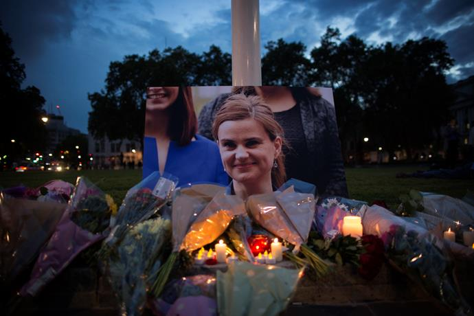 A candlelight vigil for Jo Cox.