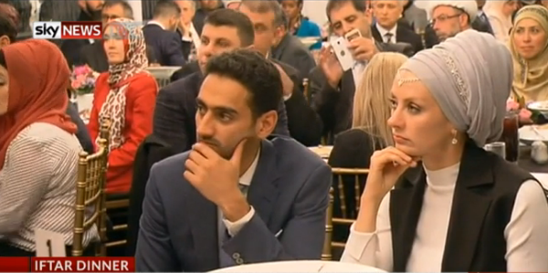 Waleed Aly and wife Susan attended
