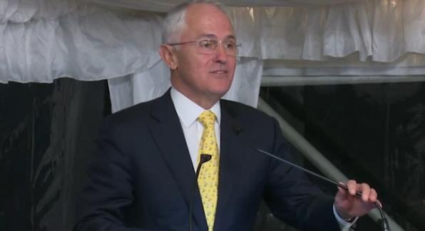 Malcolm making his speech