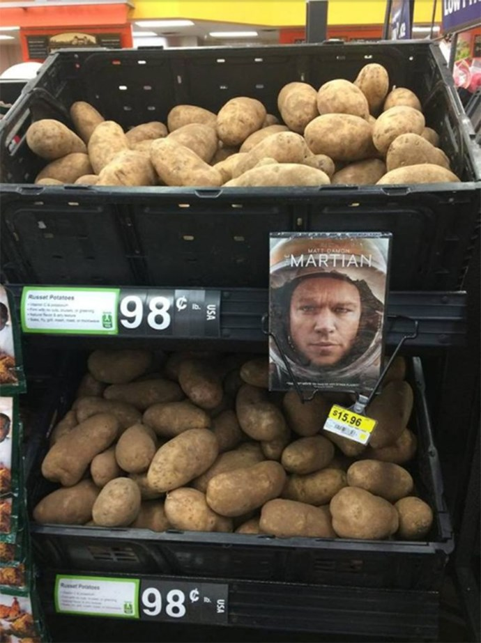 You might be left craving potatoes after watching *The Martian*.