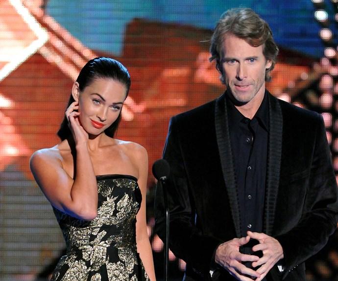Megan Fox and *Transformers* director Michael Bay.