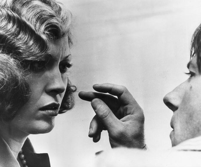 Faye Dunaway and Roman Polanski.