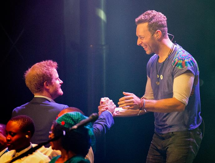 Prince Harry and Coldplay's singer, Chris Martin.