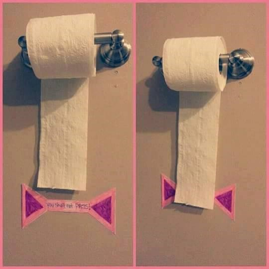 So your child doesn't unravel rolls of toilet paper.