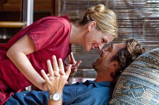 The couple were played by Julia Roberts and Javier Bardem in *Eat, Pray, Love*.