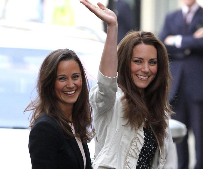 Kate and Pippa on the eve of Kate's 2011 wedding.