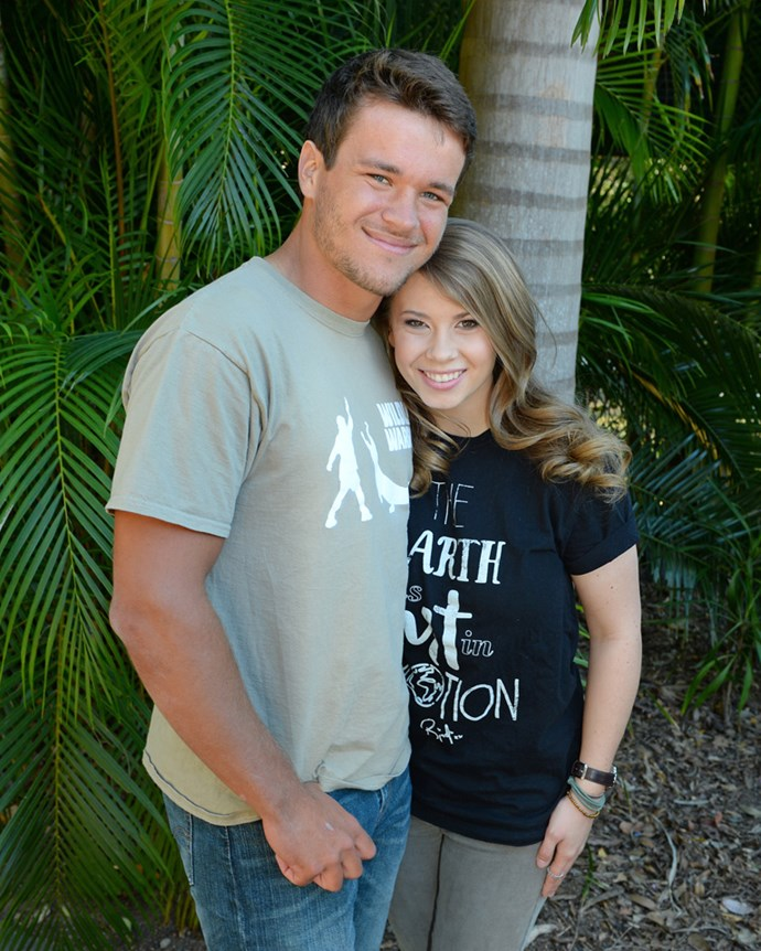 With boyfriend, Chandler Powell, as the family celebrated Bindi's 18th birthday.