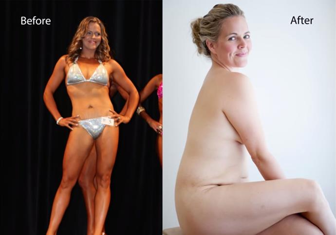 """Taryn's famous """"before and after"""" image."""