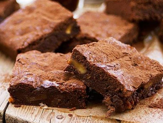 """**Dark chocolate, fig and muscat brownies** These adults-only brownies will be sure to satisfy your tastebuds. Made with premium dark chocolate, dried figs and muscat, they'll be ready to devour in just 35 minutes. [Click here for the full recipe](http://www.foodtolove.com.au/recipes/dark-chocolate-fig-and-muscat-brownies-14844/