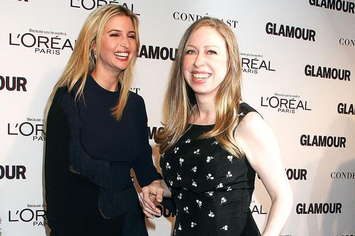 Chelsea Clinton and Ivanka Trump during friendlier times in 2014.