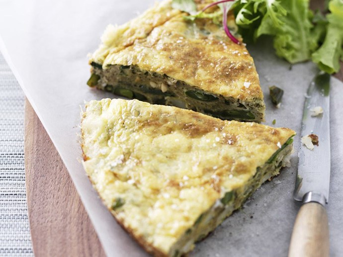 "[Green bean and pesto frittata recipe](http://www.foodtolove.com.au/recipes/green-bean-and-pesto-frittata-19803|target=""_blank"")."