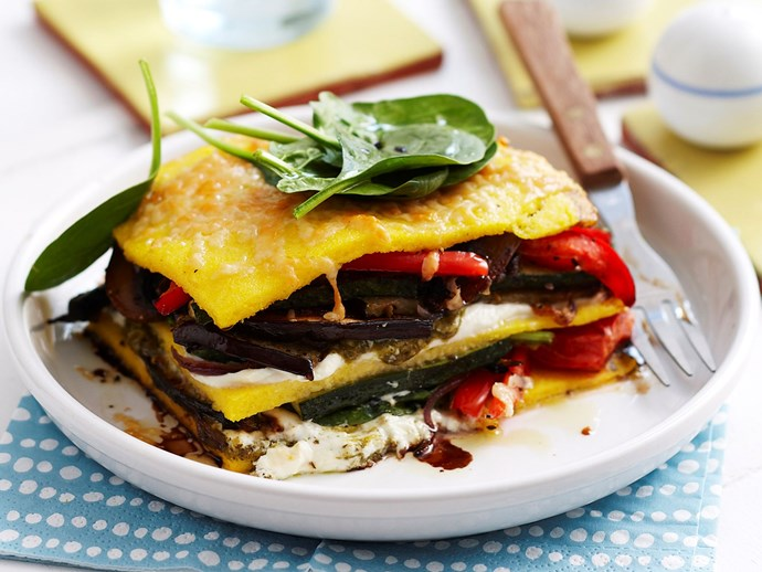 "[Roast vegetable pesto stacks recipe](http://www.foodtolove.com.au/recipes/roast-vegetable-pesto-stacks-5533|target=""_blank"")."